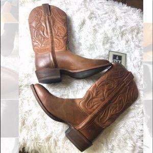 🛍Frye | Bruce Cognac women's Cowboy Brown Boots